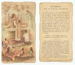 Preghiera per le Anime del Purgatorio, con imprimatur - Anno 1898 ...