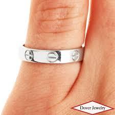 wedding ring 18k white gold size 7 75