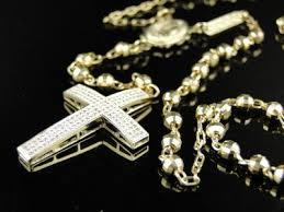 new mens 10k yellow gold rosary genuine