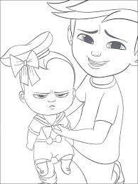 Boss Baby Kleurplaat Printen 7