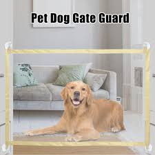 Pet Dog Gate Door Barrier Portable Mesh Pet Fences For Doorways Dogs Safe Guard And Install Pet Dog Safety Enclosure Dog Fences Walmart Com Walmart Com