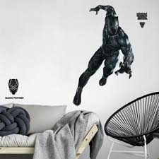 Roommates 15 Piece Black Panther Peel And Stick Giant Wall Decal Set Buybuy Baby