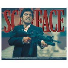 Scarface Big Gun Vinyl Sticker At Sticker Shoppe