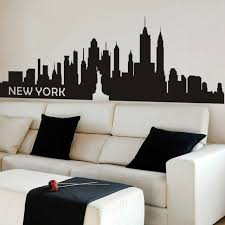 Inspirational New York City Wall Decal Nyc Silhouette Living Bedroom Vinyl Decor For Sale Online