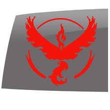 Pokemon Go Inspired Team Valor Games 5 Year Outdoor Vinyl Sticker Decal 5 Year Outdoor Vinyl Sticker Decal Slomo Swag Apparel Stickers And More