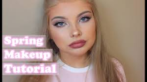spring makeup look 2016 rosy and