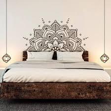 The Listing Is For Half Mandala Wall Decal Mandala Decals Headboard Master Bedroom Yoga Stu Wall Decals For Bedroom Headboard Decal Painted Bedroom Furniture