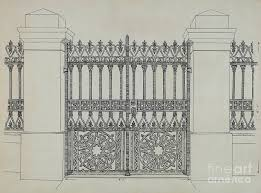 Iron Fence And Gate Drawing By Ray Price