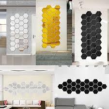 12pcs 3d Diy Mirror Hexagon Vinyl Removable Wall Sticker Decal Home Decor Art Us Shopexpress Wall Stickers Home Decor Sticker Decor Baby Room Wall Decals