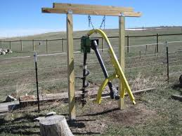 Post Hole Digger Stand Tractors Google Search Post Hole Diggers Tractor Idea Homemade Tractor