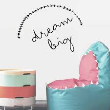 Big Dream Wall Stickers For Company Vinyl Wall Decals Living Room Home Decoration For Nursery Kids Room Nordic Room Decor W277 Wall Stickers Aliexpress