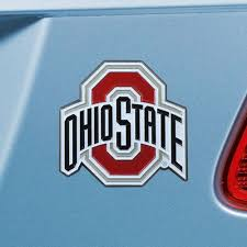 Set Of 2 Ncaa Ohio State University Buckeyes Color Emblem Automotive Stick On Car Decal Christmas Central