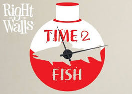 Fishing Fisherman Wall Clock Wall Decals Vinyl Art Stickers