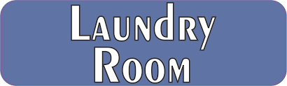 10in X 3in Blue Laundry Room Magnet Stickertalk