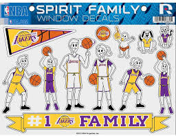 Amazon Com Los Angeles Lakers La Family Spirit Large Window Decal Sheet Nba Basketball Sports Fan Wall Decor Stickers Sports Outdoors