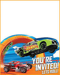 Free Printable Hot Wheels Invitation Templates For Download