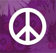 Peace Sign Red Pink Or White Car Vinyl Window Sticker Decal Silhouette Ebay