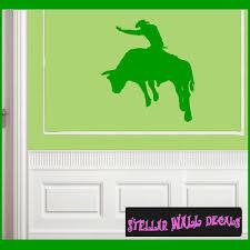 Bull Riding Cowboy Rodeo Sport Vinyl Wall Decal Wall Sticker Car Sticker Rodeost010 Swd