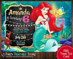 Little Mermaid Invitacion Poco Mermaid Invitaciones Invitaciones