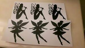 24 X Fairy Small Vinyl Decal Stickers 2 Designs Crafts Wine Bottle Wall Glasses Ebay