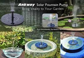 solar water pump garden fountain solar