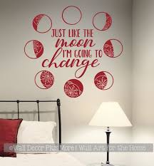 Moon Phases Wall Decor Sticker I M Going To Change Kids Space Art Decal