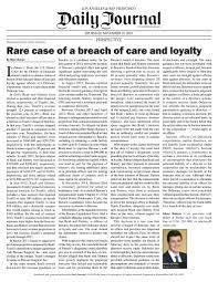 """Marc Boiron on Twitter: """"Los Angeles & San Francisco Daily Journal - Rare  Case of Breach of Care and Loyalty (Delaware attorney in Orange County)…  https://t.co/tUqzJXrHzw"""""""