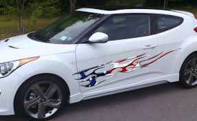 American Flag Flame Car Truck Graphic Decal Xtreme Digital Graphix