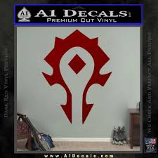 World Of Warcraft Horde Decal Sticker A1 Decals