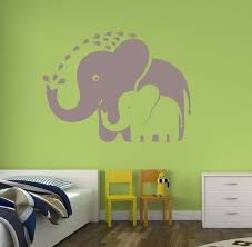Zoo Babies Mommy And Baby Elephant Vinyl Wall Decal Etsy