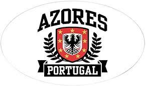 Amazon Com Cafepress Azores Portugal Oval Bumper Sticker Euro Oval Car Decal Home Kitchen