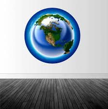 Earth Wall Decal Planet Earth Decal Vinyl Wall Decal Home Decor Removable Wall Sticker Infinite Graphics Wall Art Vinyl Graphics