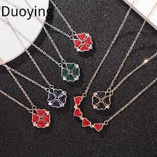 four leaf clover necklace love