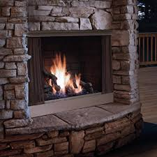 zero clearance outdoor gas fireplace