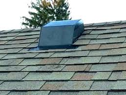 bathroom exhaust fan through the roof