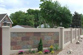 Stone Wall Panels Fencing Use Advanced Precast Concrete Forming Instead Aftec Llc Exterior Wall Design Fence Wall Design Front Wall Design