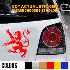 Coat Of Arms Of Scotland Scottish Lion Car Decal Sticker Red Choose Your Size Red Sticker Coat Carcar Decal Sticker Aliexpress
