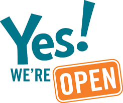 Image result for we are open and ready logo