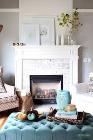 focal point with living room fireplace