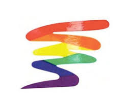 Rainbow Squiggle Lgbt Pride Sticker 3x3 Inch Lgbt Gay And Lesbian Pride Decal Tan Baseball Cap 22