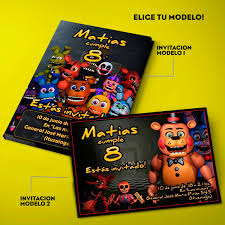 Kit Five Nights At Freddy S Invitaciones Banderin Y Mas X30