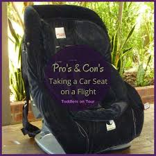 cons of flying with a car seat