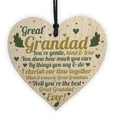 great grandad birthday gift wooden