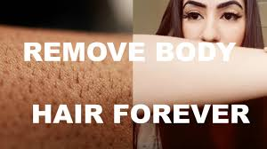 how to remove body and hair