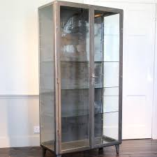 steel and glass display cabinets
