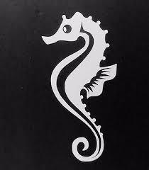 Hippocampus Car Laptop Bumper Window Vinyl Decal Sticker 01333 Seahorse Fish