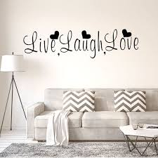 Shop Live Laugh Love Text Pattern Wall Sticker Removable Decals For Home Living Room Black Overstock 29186836