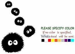 Studio Ghibli Totoro Spirited Away Funny Vinyl Decal Sticker Car Window 12 Ebay