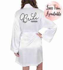 personalized bride robes bridal robes