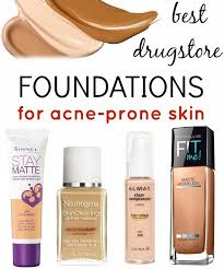 best foundations for acne